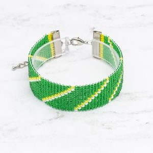 Jewelry - Green Bay Packers Bracelet-Loom Bracelet-Football